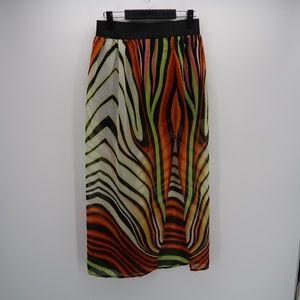 Fashion Web Women's Chiffon Tiger Print Skirt